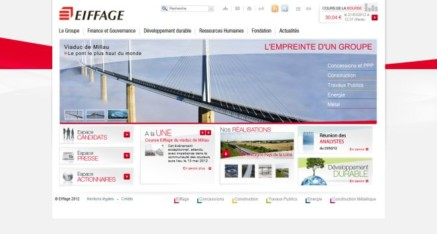 Refonte sites institutionnels Eiffage groupe